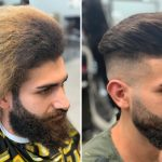 Before After Haircut Men